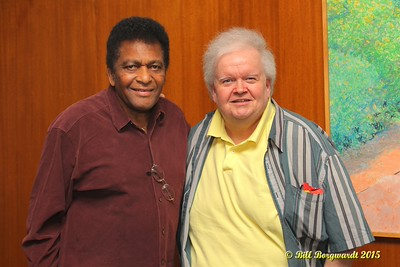 Charley Pride with band leader Danny Hutchins 2015 023