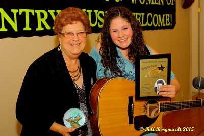 Shirley Hartman & Sydney Mae - Presentation of the Dianne Brandson Memorial Rising Star Award - Alberta's Men & Women of Country Music 2015