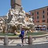 Bernini fountain at Piazza Navona.