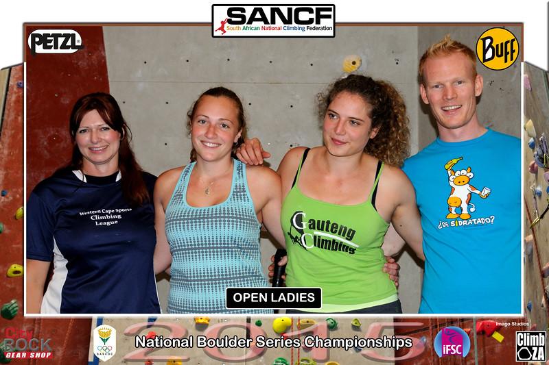 NATIONAL BOULDER CHAMPIONSHIPS - OPEN LADIES