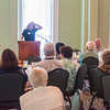 Joshua Boucher/Staff Photographer <br /> Tom Toles, editorial cartoonist for the Washington Post, speaks to the 1874 Society on Thursday, July 30, 2015. On his blog, Toles sometimes writes about the fictional land of New Arcadia, a place he envisions the world will be like after the novelty of the internet wears off. He said he sees Chautauqua is very much like his New Arcadia.