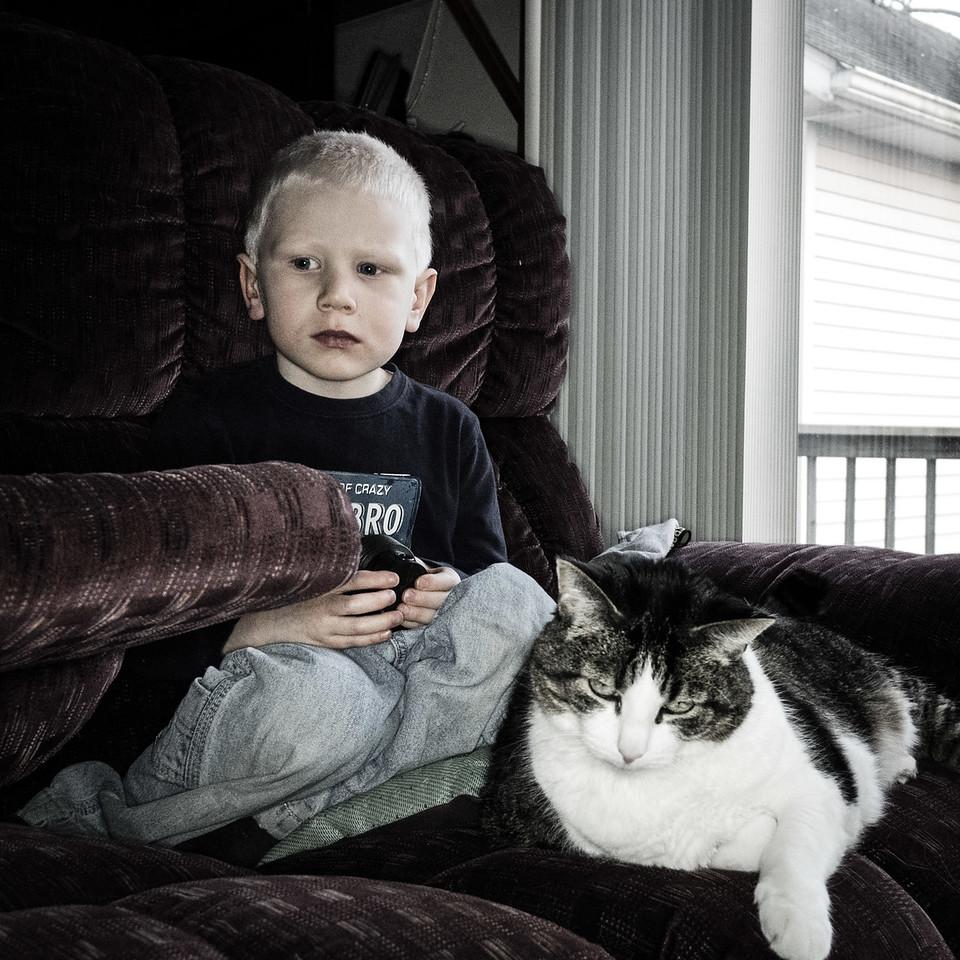 3/20 - Owen and Pumpkin.