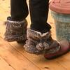 """JD """"wears"""" Grammy's slippers"""