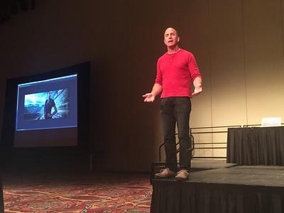 Joel Grimes speaks at the KelbyOne seminar in Indianapolis