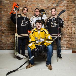 purdue hockey portraits