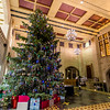 The Purdue Memorial Union Christmas Tree stands tall on the campus of Purdue University