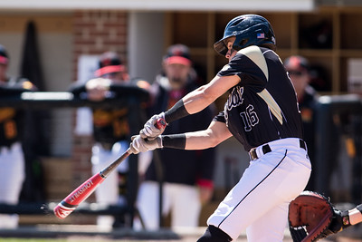 Cody Strong bats during the Purdue baseball game against Maryland on April 26, 2015