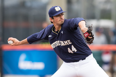 Evy Rubial pitches during the NCAA Champaign Regional Game between Notre Dame and Illinois on May 31, 2015
