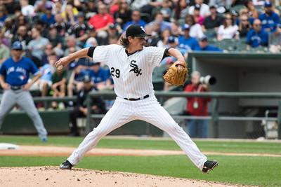 Jeff Samardzija of the Chicago White Sox pitches against the Toronto Blue Jays on July 9, 2015