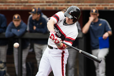 Cincinnati Bearcat Ian Happ bats against the Toledo Rockets at Marge Schott Stadium