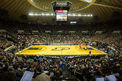 A general view of Mackey Arena during the Purdue and Indiana rivalry game. Purdue won 83-67.