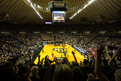 The view from the Paint Crew during the first half of the Purdue game against Indiana. Purdue won 83-67