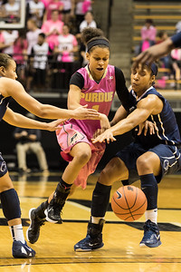 Ashley Morrisette brings the ball up the court during the Purdue 54-50 loss to Penn State