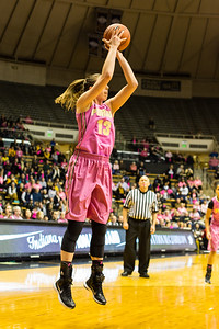 Bridget Perry shoots during the Purdue 54-50 loss to Penn State