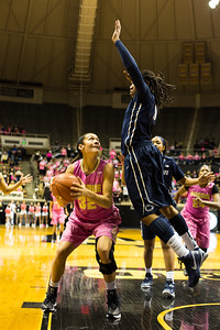 Whitney Bays pump fakes Alex Harris during the Purdue 54-50 loss to Penn State