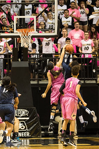 Whitney Bays blocks Alex Harris during the Purdue 54-50 loss to Penn State