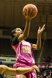 April Wilson drives to the basket during the Purdue 54-50 loss to Penn State