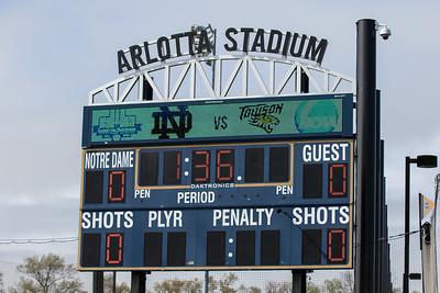 The scoreboard at Arlotta Stadium