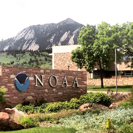 View of the flatirons from NOAA.