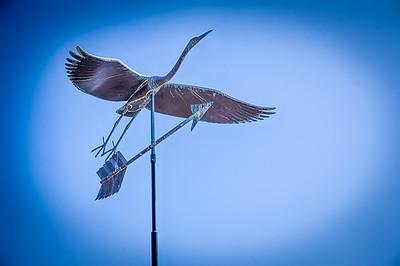 Blue Heron Weather-vane