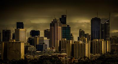 Melbourne CBD (looking west)