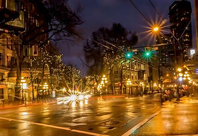 Busy Gastown Street Corner