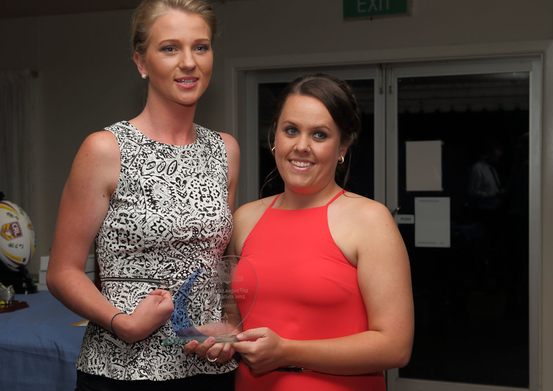 Head Coach 2015 Jersey Girls, Sam Longmore and Kaylah Smith, 'Most Consistent Player' for the year.