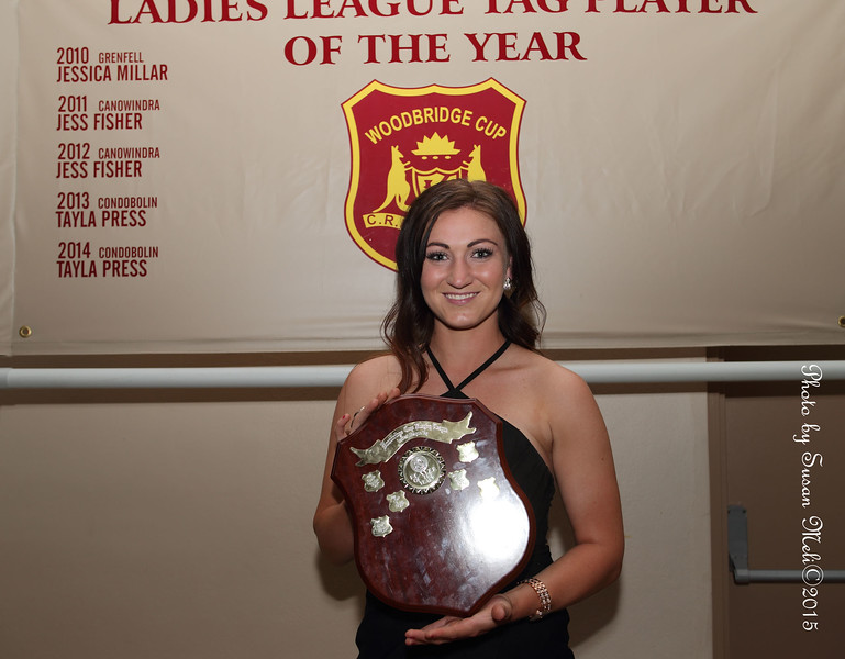 Congratulations Bron Pollack, leading Try-Scorer 2015 and Player of the Year in League Tag, Woodbridge Cup.