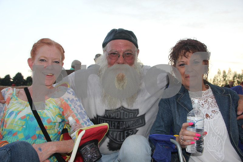 """Left to Right are: Pam Portillo, """"Clapper"""", and Toni Green, who attended the Boston concert on June 26, 2015 as the main attraction of the 2015 Shellabration at Harlan Rogers"""