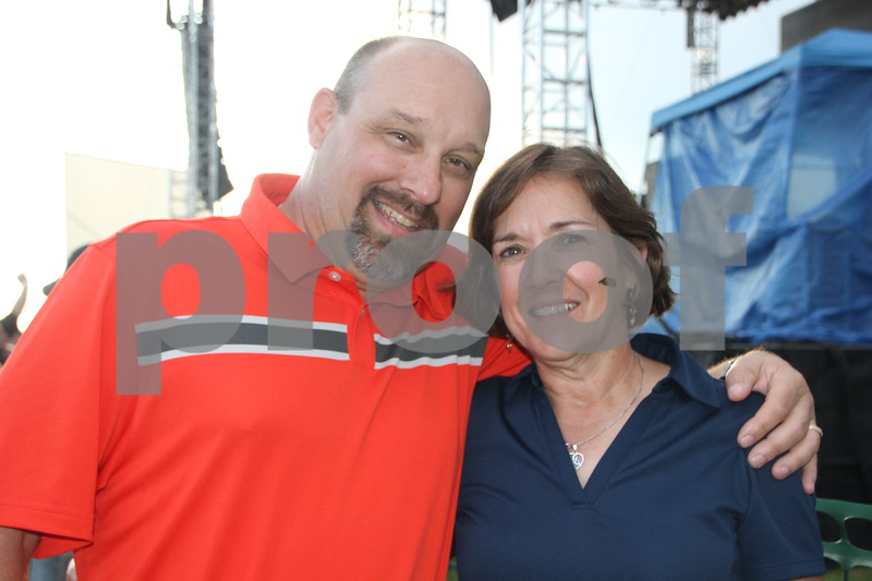 Rich and Mona Watson are waiting to see Boston have their turn on stage later in the evening at the  2015 Shellabration event at Harlan Rogers on June 26, 2015.