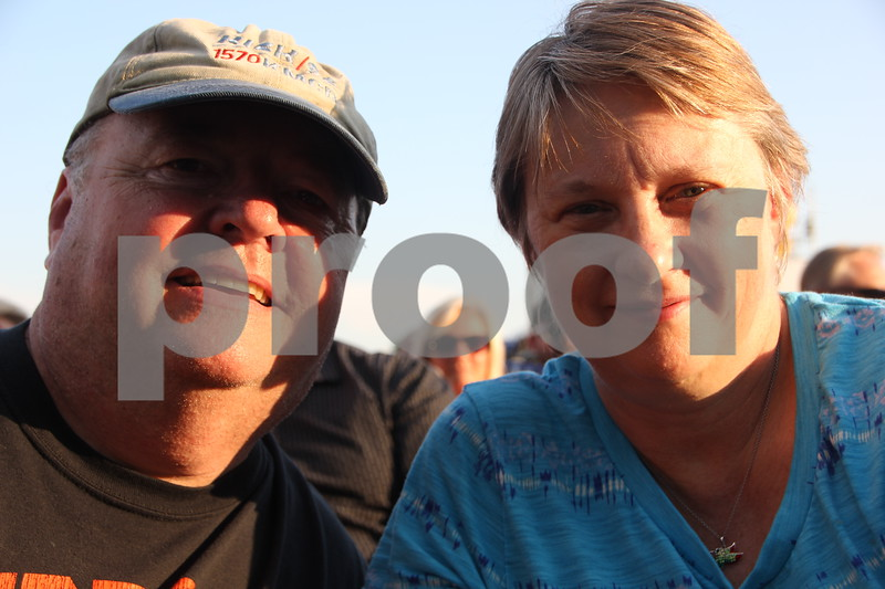 Lue and Deb Muntz, from Fairfield, Iowa came to  see Boston perform at the 2015 Shellabration at Harlan Rogers on June 26, 2015.