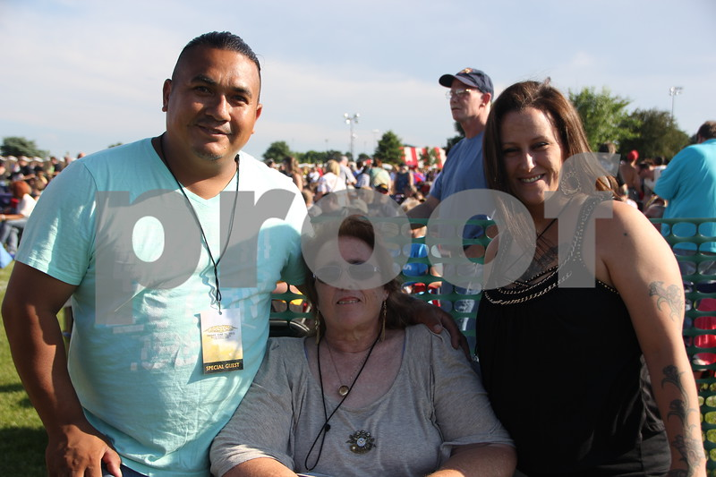 Appearing left to right are: Roberto Espinal, Lori Surles, Jennifer Espinal. They attended the Shellabration Boston Concert on June 26, 2015 at Harlan Rogers.