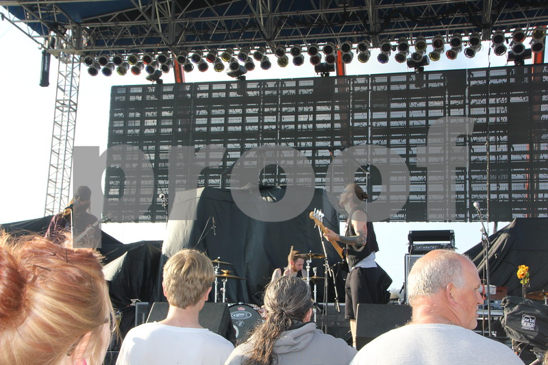 Brutal Republic, one of the opening acts for Boston, performs at the 2015 Shellabration on June 26, 2015 at Harlan Rogers