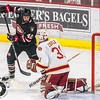 Pictured:  DU:  #31, Evan Cowley, G, 6-4, 185, SO, Evergreen, CO;  SCSU: #42, Blake Winiecki, F, 6-1, 195, FR, Lakeville, MN