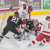 Pictured:  SCSU:  #35, Charlie Lindgren, G, 6-2, 190, SO, Lakeville, MN; #21, Brooks Bertsch, F, 5-11, 190, SR, Dubuque, IA; #40, Tim Daly, D, 5-11, 190, SR, Maple Ridge, BC; #5, Nathan Widman, D, 6-0, 205, FR, Naperville, IL;  DU:  #21, Joey LaLeggia, D, 5-10, 185, SR, Burnaby, BC; #12, Ty Loney, F, 6-4, 208, SR, Pittsburgh, PA
