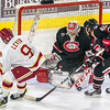 Pictured:  SCSU:  #35, Charlie Lindgren, G, 6-2, 190, SO, Lakeville, MN; #40, Tim Daly, D, 5-11, 190, SR, Maple Ridge, BC;  DU:  #9, Gabe Levin, F, 5-7, 160, JR, Marina del Rey, CA