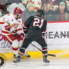 Pictured:  DU:  #7, Will Butcher, D, 5-10, 200, SO, Sun Prairie, WI;  SCSU:  #21, Joey LaLeggia, D, 5-10, 185, SR, Burnaby, BC