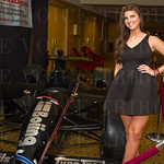 April Reinle from Boiing Jewelry with the Boiing race car.