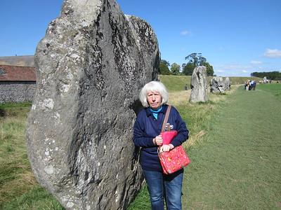 Chris admiring the Stone Circle at Avbury