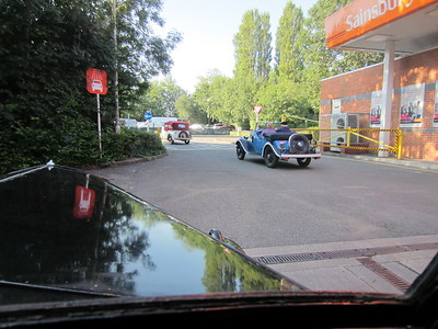 About to leave Sainsburys after fueling people and cars