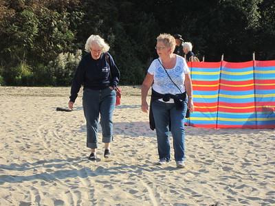 Chris and Margret on Crantock Beach