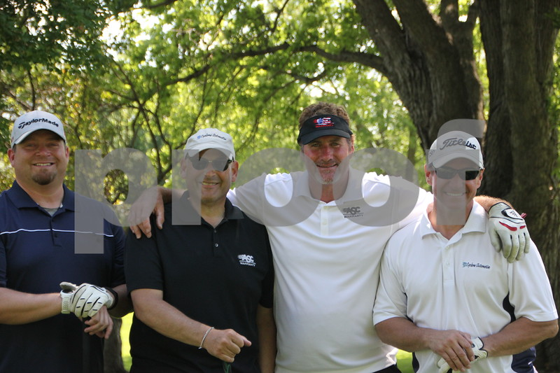 A fund raiser for diabetes called Swing for A Cure was held at the Fort Dodge Country Club on Fridaly, June 19, 2015. These four gentlemen were one of several teams to take part in the event. Shown left to right are: Cory Hood, Rob Miller, Brent Cook, and Joe Hammen