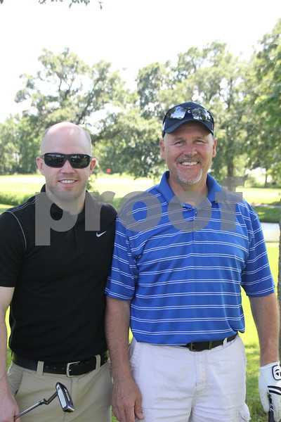 Another  couple golfers who took part in the Swing for A Cure event for diabetes held on Friday, June 19, 2015 at the Fort Dodge Country Club. They are ( left to right): Zach Roeder and Greg Sampson.