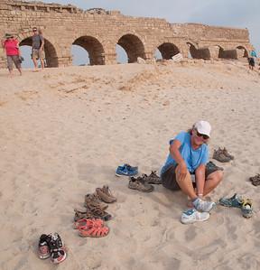 israel monday 9.7.15 caesarea 4 herods aqueduct med sea 1-1