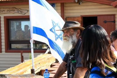 3 - kibbutz misgave am representative looking over lebanon
