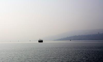 fishing boats on the sea of galilee