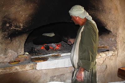 making bread for lunch at nazareth village