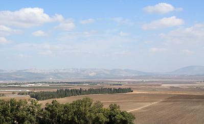 looking at nazareth from tel megiddo