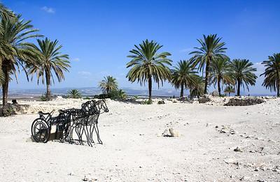 stable ruins at tel megiddo