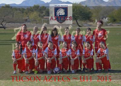 2015 Tucson AZTECS  U11 girls